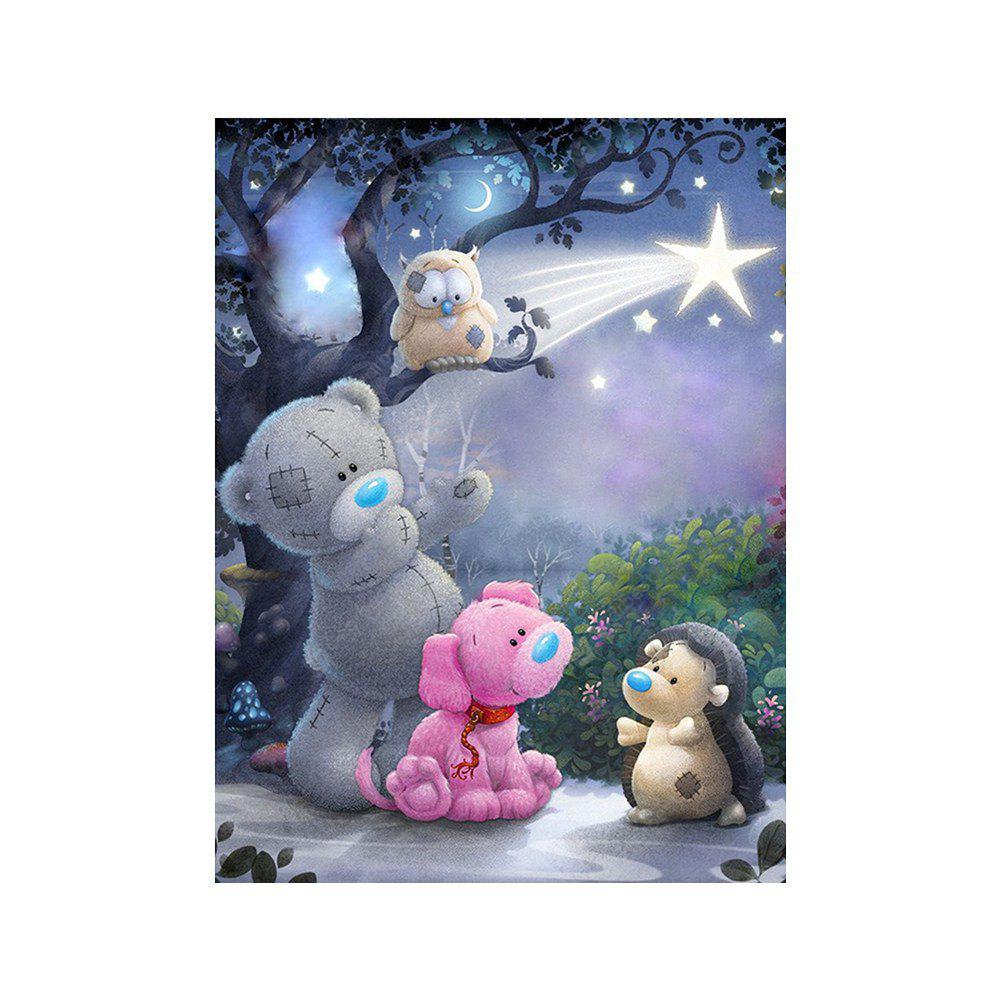 Naiyue S218 Pudding Bear and Dog Print Draw Diamond Drawing