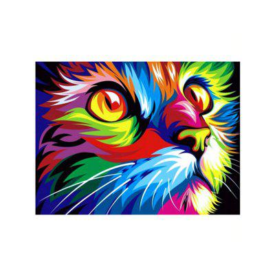 Naiyue J578-2 Colour the Cat Print Draw Diamond Drawing
