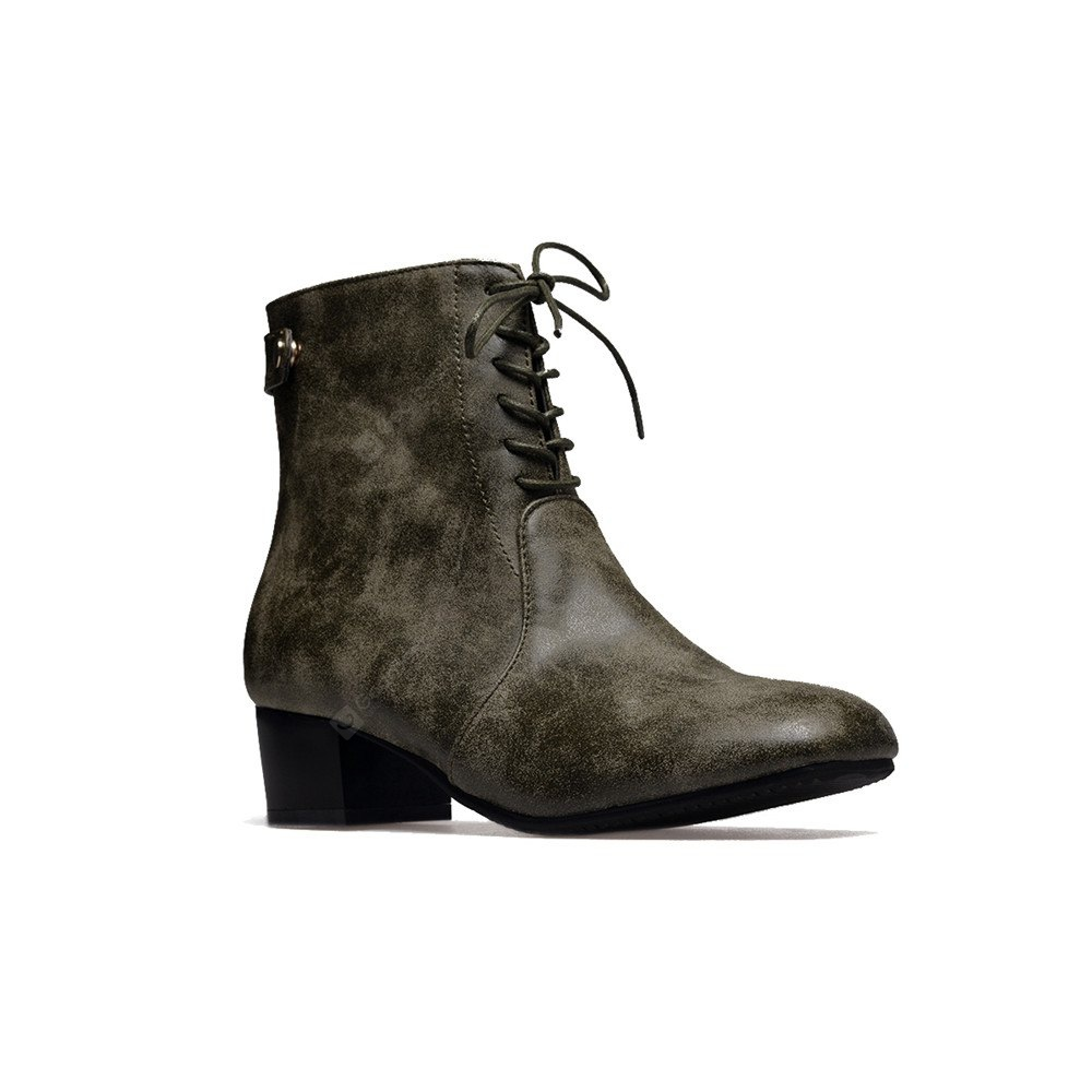 Square Head Thick and Fashionable Ankle Boots