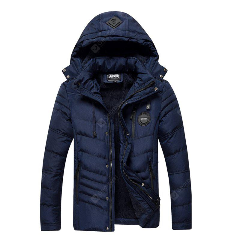 Winter Jacket with Men'S Velvet and Cotton Padded Jacket
