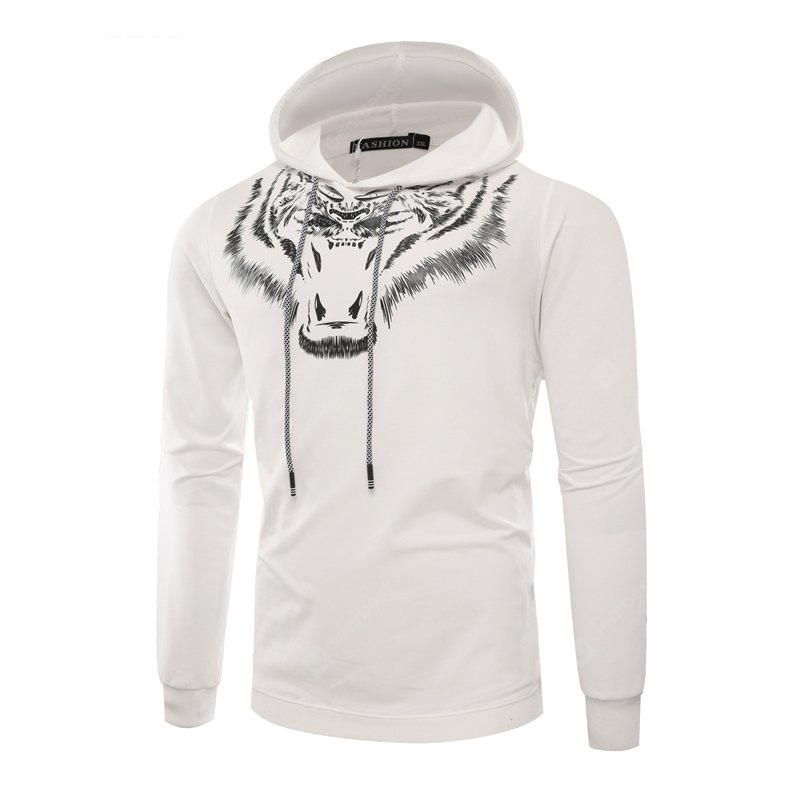 Tiger Man Hoodie Printing Fashion Leisure Set