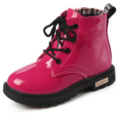 Children Boys Girls Candy Color Patent Leather Boots