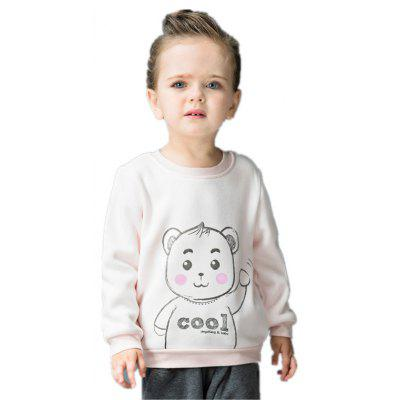 2017 Boys Girls Unisex Casual Cute Character Cotton Inverted Cashmere Warm Tees