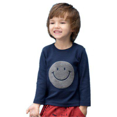 2017 Unisex Boys Girls Casual Long Sleeves Cotton Smile Face Tees Kids T-Shirts
