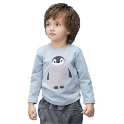 2017 Toddler Boy Girls Autumn Unisex Casual Cute Sleeves Cotton Penguin Tees Kids T-Shirt