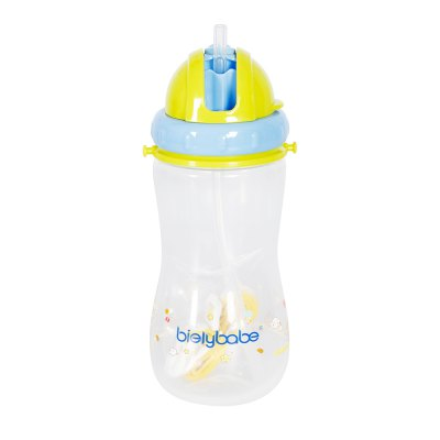 Children easy to hold straw bottle 500MLMY0027-green