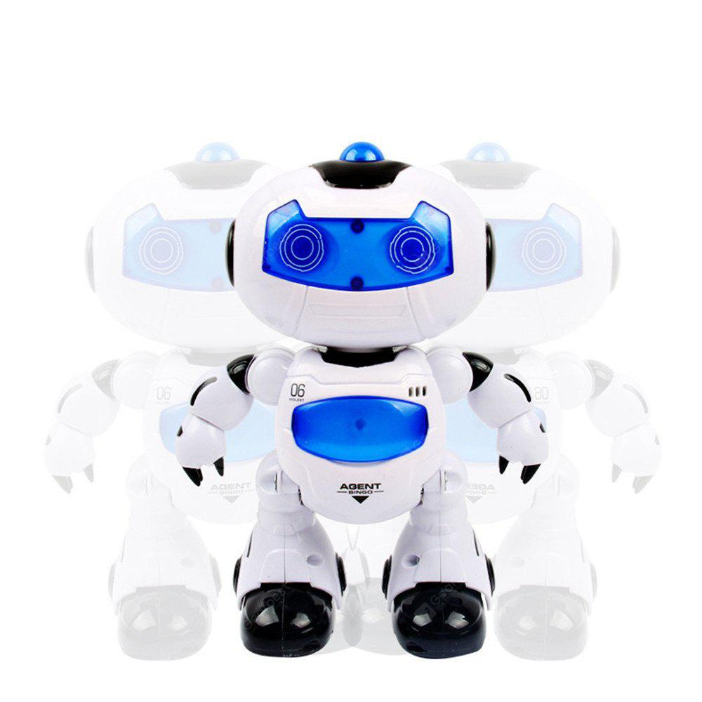 Electronic RC Robot Learning Toys Toddler Intelligent Action Dancing Remote Control with Music Lights for Kid