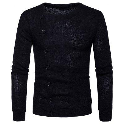 Мужская мода Single Row Button Dressing Sweater