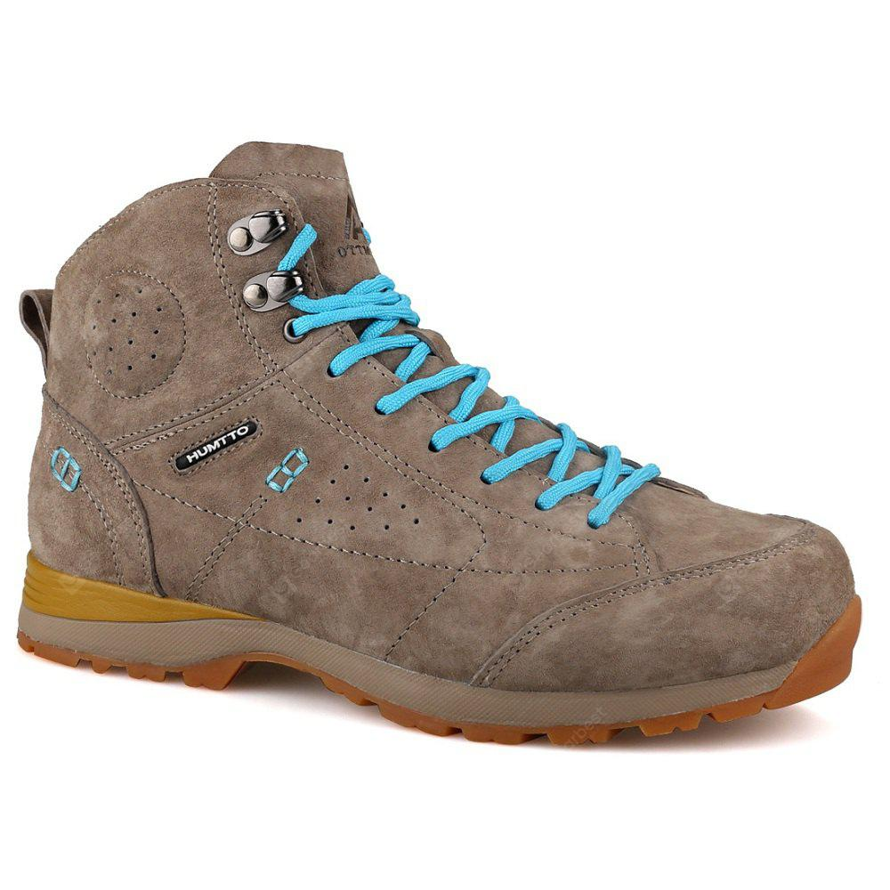 HUMTTO Hiking Shoes Women Trekking Boots Leather Climbing Sneakers