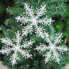 3pcs/lot 15cm Big Size Plastic White Snowflakes Charms Christmas Decorations For Festival Party Wedding Xmas Tree Home W - WHITE