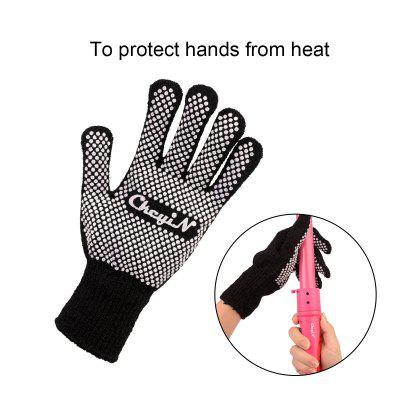 Heat Resistant Protective Glove for Hair Straightener Perm Curling Hairdressing Anti-scald Cotton Yarn Black