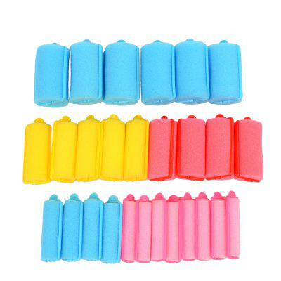 27pcs Colorful Soft Sponge Hair Roller Hair Curler Roller With 5 Sizes HS160-3