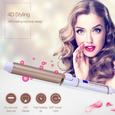 32mm Tourmaline Ceramic Hair Curling Iron Wand Curling Tong Fast Heating Hair Curler Hair styling tool with LED Display