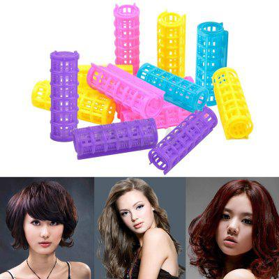 12 Pcs 20*68mm Women Cosmetic DIY Hair Styling Tools Plastic Hair Curling Roller Curlers Hair Roller Clips