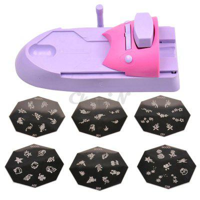 Nail Art Printer Diy Pattern Stamping Printing Machine 6 Metal