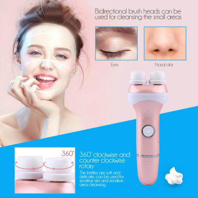 Super Soft Double Heads Rotating Electric Facial Cleansing Brush