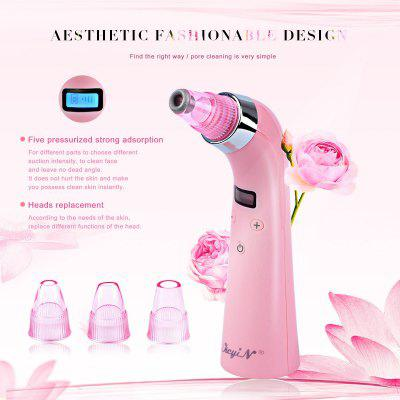 Rechargeable Portable Facial Blackhead Acne Removal Comedo Suction Beauty Device With 4 Replaceable Heads MR131-4Skin Care<br>Rechargeable Portable Facial Blackhead Acne Removal Comedo Suction Beauty Device With 4 Replaceable Heads MR131-4<br>