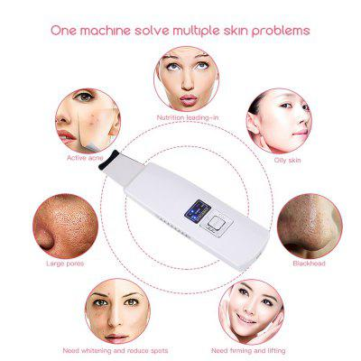 Ultrasonic Ion Skin Scrubber Rechargeable Microdermabrasion Deep Cleaning High Frequency Vibration Face Skin Peeling Facial Massager Spa MR163WQ