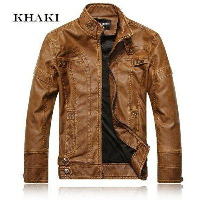 New arrive brand motorcycle leather jackets men leather jackets coats