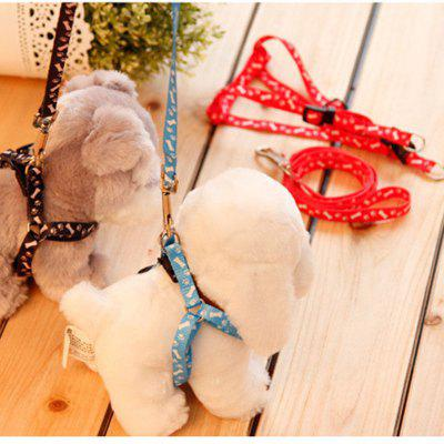 Peppy Dog Harness Safety Leash Rope Belt Nylon Pet Dog Cat Collar