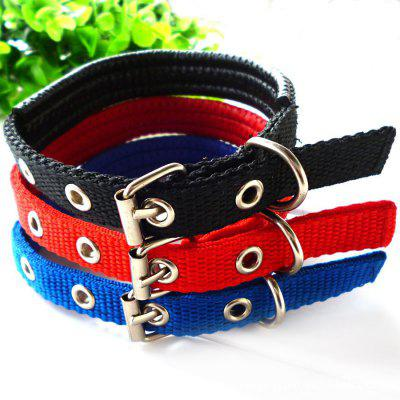 Dual Layer Comfort Foam Cotton Nylon Strap Pet Collar