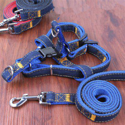 Jean Leash Harness Chain Rope Belt Adjustable Cat Dog CollarDog Carriers<br>Jean Leash Harness Chain Rope Belt Adjustable Cat Dog Collar<br>