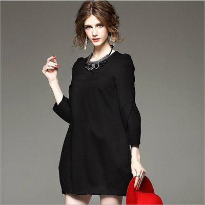 Long Sleeve Big Size Wrap Buttocks DressBodycon Dresses<br>Long Sleeve Big Size Wrap Buttocks Dress<br>