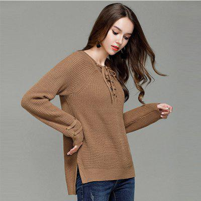 Sexy V Collar Pullover Sweater