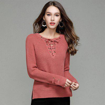 Sexy V Collar Pullover SweaterSweaters &amp; Cardigans<br>Sexy V Collar Pullover Sweater<br>