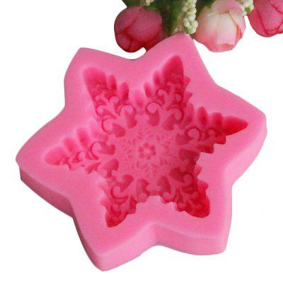 3D Snowflake Hexagon Shape Silicone Mold Biscuit Fondant Jelly Pudding Chocolate Mold DIY Cake Decoration Tools 242500901