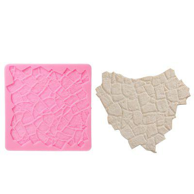 Facemile Cobble Stone Wall Line Grain Forms Silicone Impression Texture Mat Sugarcraft Fondant Mould Lace Border Mat