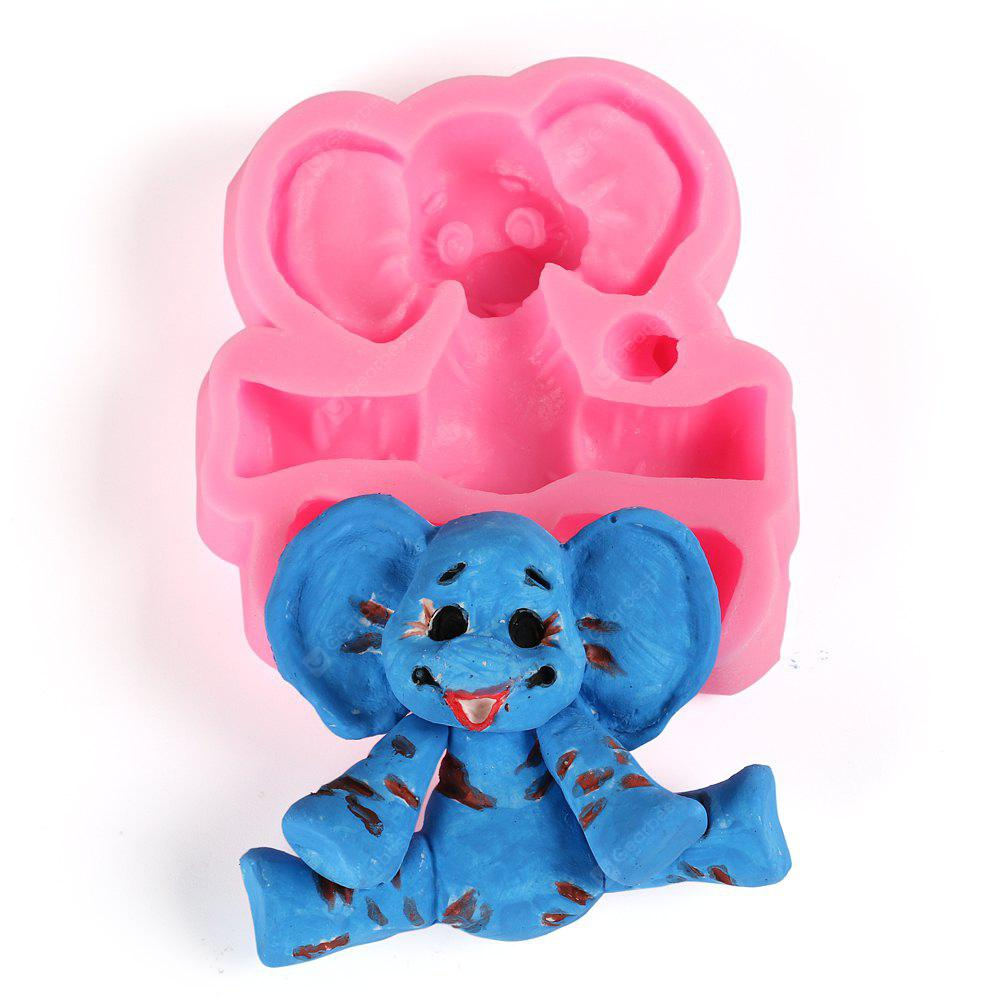 Facemile Cartoon Elephant Stampo in silicone Baby Party Fondente Cake Decorating Tools Cucina di cottura al cioccolato Candy Gumpaste Stampi