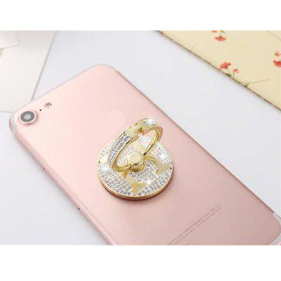 General Purpose Adjustable Holding Ring Design Mobile Phone Holder with Diamond White Diamond