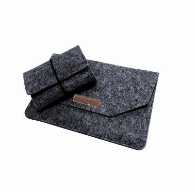 Laptop Sleeve 12 inch Felt Envelope Cover Case with Mouse Charge Pouch for Apple 12 inch MacBook Air / Pro