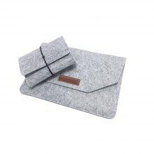 Laptop Sleeve 13.3 inch Felt Envelope Cover Case with Mouse Charge Pouch for Apple 13 inch MacBook Air / Pro