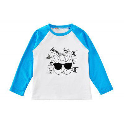 SOSOCOER Children Clothing 2-7T A Long Sleeved T-Shirt Printed with The Alphabet Rabbit