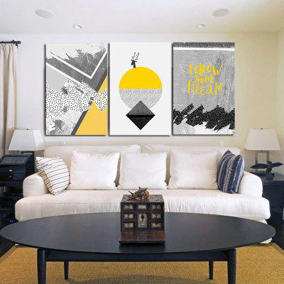 Modern Abstract Canvas Prints Unframed Home Wall Decal 3PCS