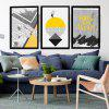 Modern Abstract Canvas Prints Unframed Home Wall Decal 3PCS - COLORFUL
