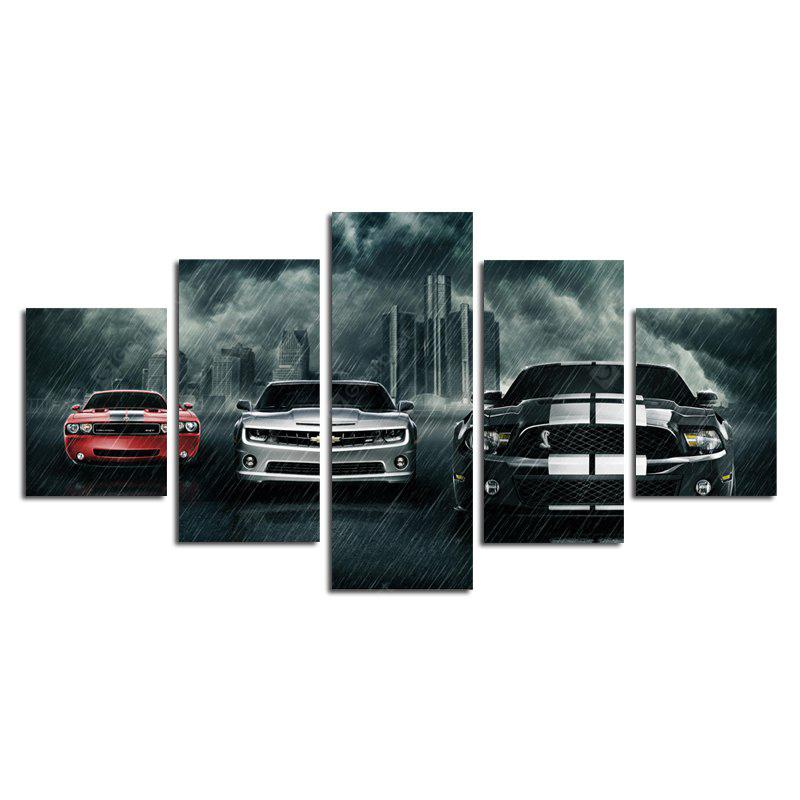 Modern Creative Canvas Prints of Cars Unframed Home Wall Decoration 5pcs