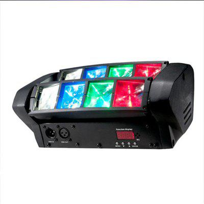 8 LEDs 3W Mini Spider Moving Head Stage Light - BLACK
