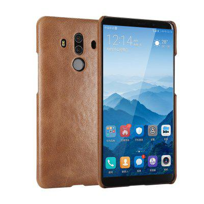 Wkae Retro Real Genuine Leather Back Cover Case for Huawei Mate 10 Pro