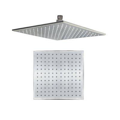 CP-300FL SUS304 Stainless Steel 12-INCH Square Brushed LED Light Shower Head