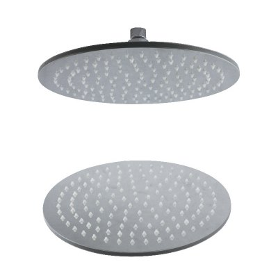 CP-300YL SUS304 Stainless Steel 12-INCH Round Brush LED Light Shower Head