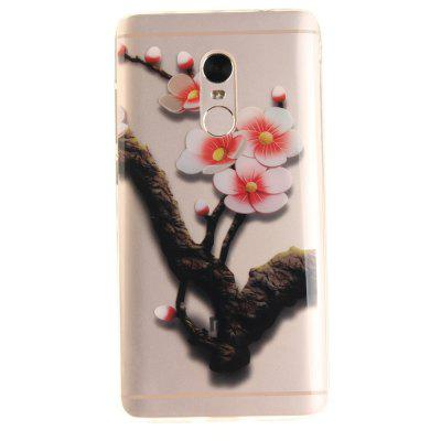 The Four Plum Flower Soft Clear IMD TPU Phone Casing Mobile Smartphone Cover Shell Case para Xiaomi Redmi Note 4