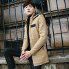 Men's Hooded Trench Coat - KHAKI