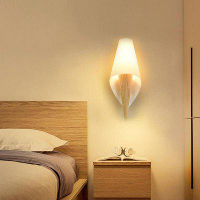 Modern Style Wall Lamp White Glass Indoor for Bedside Lamp Pathway Dining  Bedroom Living  Room