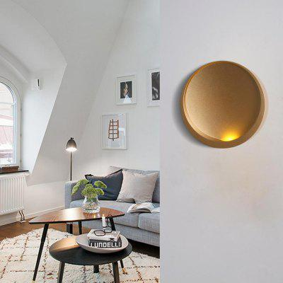 Modern Style Wall Lamp Golden Aluminum Indoor for Bedside Lamp Pathway Dining  Bedroom Living  Room