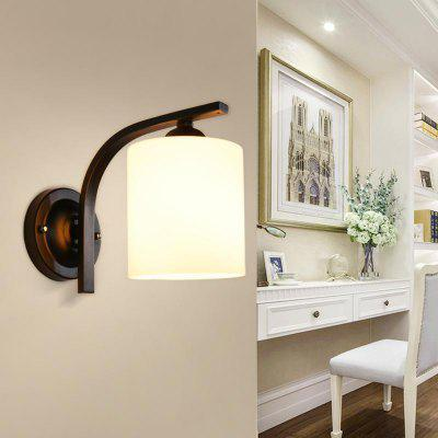 Modern Simple Style Wall Lamp White Glass Indoor for Bedside Pathway Dining  Bedroom Living Room