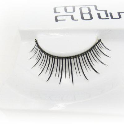 Long Black Natural Falso Eyelash na vida diária Embalagem independente