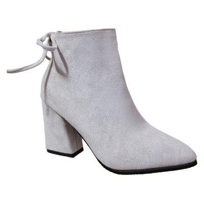 LL-176 All-match Martin Pointed High-heeled Stiefel with Thick